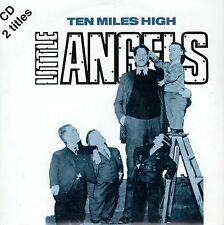 LITTLE ANGELS TEN MILES HIGH. HARD TIMES CD SINGLE CARPETA CARTON