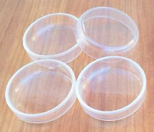 12 x Large Clear Castor Cups Floor Protector Carpet Laminate 67mm BULK PACK