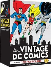 The Art of Vintage DC Comics : 100 Postcards by DC Comics Staff (2010,...