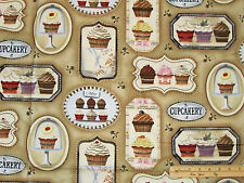 """Cupcakery Cup Cake Mini Cupcakes Red Velvet SPX Fabric Pictures   17"""" x 44"""""""