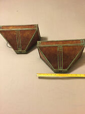 Mission Wall Sconce !!Pair!! Arroyo Craftsman - Mica & bronze