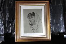 Bettina Steinke Charcoal Portrait of Native American Girl Taos NM