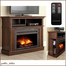 Electric Fireplace TV Stand Entertainment Center REMOTE TEMPERATURE CONTROLL