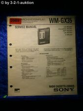 Sony Service Manual WM GX35 Cassette Player (#2069)