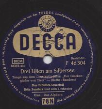 Bela sanders Orchester und das Fröhlich Quartett : Drei Lilien am Sillbersee