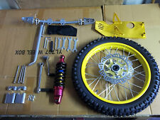 gio 125cc front wheel, rotor,kick start,shock,shift lever,skid plate ( yellow)