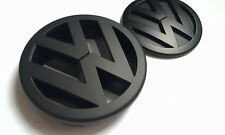 VW MATT BLACK FRONT grill+rear avvio Badge Volkswagen Polo 9N3 9 N GTI MK4 TDI FSI