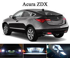 Xenon White LED Package - License Plate + Vanity + Reverse for Acura ZDX (8 Pcs)
