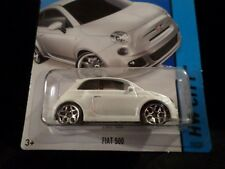 HW HOT WHEELS 2014 HW CITY #25/250 FIAT 500 HOTWHEELS MOPAR ITALIAN (WHITE) RARE