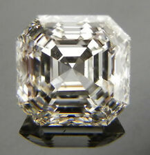 1.50ct SI1 GENUINE WHITE H-I COLOR ASSCHER LOOSE REAL MOISSANITE 4 RING/PENDANT