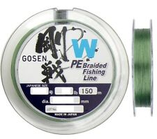 Gosen W 15lb/150m PE Braided Fishing Line (Green) - Made in Japan