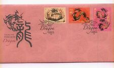 2012 Singapore Year Zodiac Dragon 龙 FDC First Day Cover  Stamps (A-096)