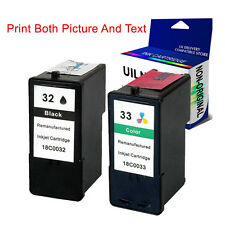 Lexmark No. 32 & 33 Ink Cartridges Replace For P915 P4330 P4350 P6250 P6350