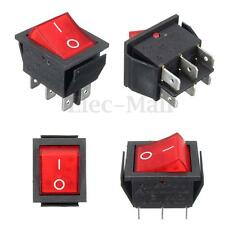 RK1-01 On/Off Round Rocker Toggle Switch w/LED Car Dash Boat 6 PIN 16A 250V