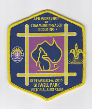 APR SCOUTS - WORKSHOP ON COMMUNITY BASED SCOUTING GILWELL PARK SCOUT CAMP PATCH