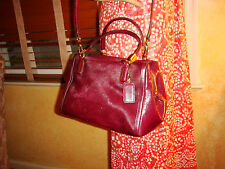 NWT COACH MADISON Mix HAIRCALF BURGANDY SATCHEL 49728 $398 LIMITED Dustbag