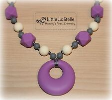 Nursing Teething Necklace Silicone Baby Teether Pendant Chewelry Jewelry Gift