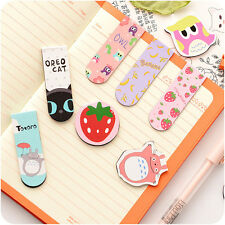 Cartoon Metal Magnetic Bookmarks Note Memo Stationery Book Mark Bookworm Office