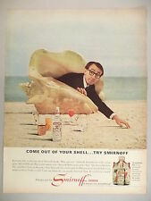 Woody Allen for Smirnoff Vodka PRINT AD - 1966 ~~ come out of your shell