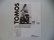 advertising Pubblicità 1981 TOMOS A3 KLS