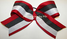 Big Cheer Bow Red White Black Ribbon Arkansas Razorbacks Spirit Girls Accessory