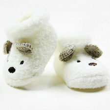 Warm Newborn Socks Unisex Baby Boy Girls Infant Cute Bear Crib Warm Shoes UK-BE