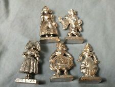 "Lot of 5 Mini Plastic 1"" Girls of the World SIAM JAPAN GERMANY DENMARK figures"