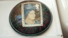 1980 GLASS PAPERWEIGHT  FOR THE 80TH BIRTHDAY OF QUEEN ELIZABETH QUEEN MOTHER