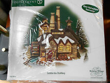 DEPT 56 DICKENS' VILLAGE LONDON GIN DISTILLERY *Excellent Store Display*