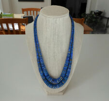 Lapis and Silver Necklace by Kenneth Aguilar, Santo Domingo (Kewa) Pueblo