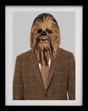 CHEWBACCA STAR WARS SUIT A3 POP ART POSTER PRINT - LIMITED EDITION OF 100