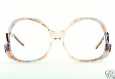 VTG 70's Swan Optical USA Eyeglass Frames Butterfly Translucent Purple Orange