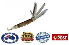 5 in 1 Horseman's Multi Knife with Hoof Pick Comb Farrier sharp tool Prem Qlty