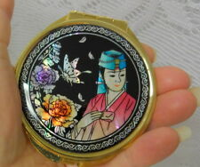 Chinese 24k plate Compact Cosmetic Mirror Makeup Pocket Mirror Mother Of Pearl