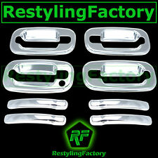 99-06 Chevy Silverado Triple Chrome Plated ABS 4 Door Handle W/O PSG KH Cover