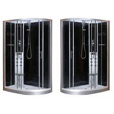 Cabina box doccia idromassaggio led 80x120 seggiolino versione dx o sx|de