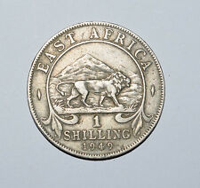 East Africa: 1 Shilling coin since 1949 in VF Condition. King George VI.