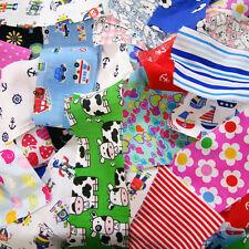 Children's Fabric SCRAPS-VALUE PACK Bundle Offcut Mixed Remnants Cotton Poly