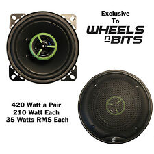 "NEW!!! Cheap Budget 420 Watt 4"" Inch 10cm Car speakers 2 Way pair 210 Watt Each"