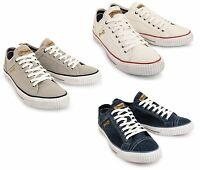Wrangler Starry Low Canvas Shoes Fashion Plimsolls Grey Navy Blue White Trainers