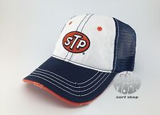 NEW STP Blue and White Mesh back Trucker Hat Cap