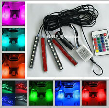 Glow Full Color Car SUV 4WD LED Interior Kit FootWell Floor Seats Inside Light