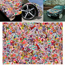 "Graffiti Cartoon JDM Bomb Car Wrap Guitar 20""x30"" Decal Waterproof Sticker"