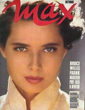 ISABELLA ROSSELLINI Italian Max Magazine 10/90 BRUCE WILLIS SHARON STONE