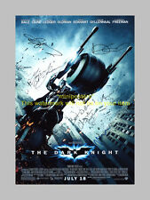 "BATMAN : THE DARK KNIGHT CAST X6 PP SIGNED 12X8"" POSTER"