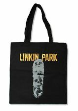 LINKIN PARK SKULLS BLACK TOTE BAG NEW OFFICIAL BAND MUSIC