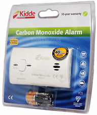 Long Life Kidde Carbon Monoxide Alarm Detector 10 Year Warranty 7CO