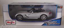 MAISTO 1:18 Scale Special Edition DODGE VIPER SRT-10 SILVER