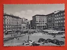 TRIESTE tram tramvia Filovia Bus Maggiolino Piazza Goldoni vecchia cartolina