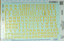 Microscale Decal O #50006 Railroad Roman Letters & Numbers Yellow (Decal Sheet)